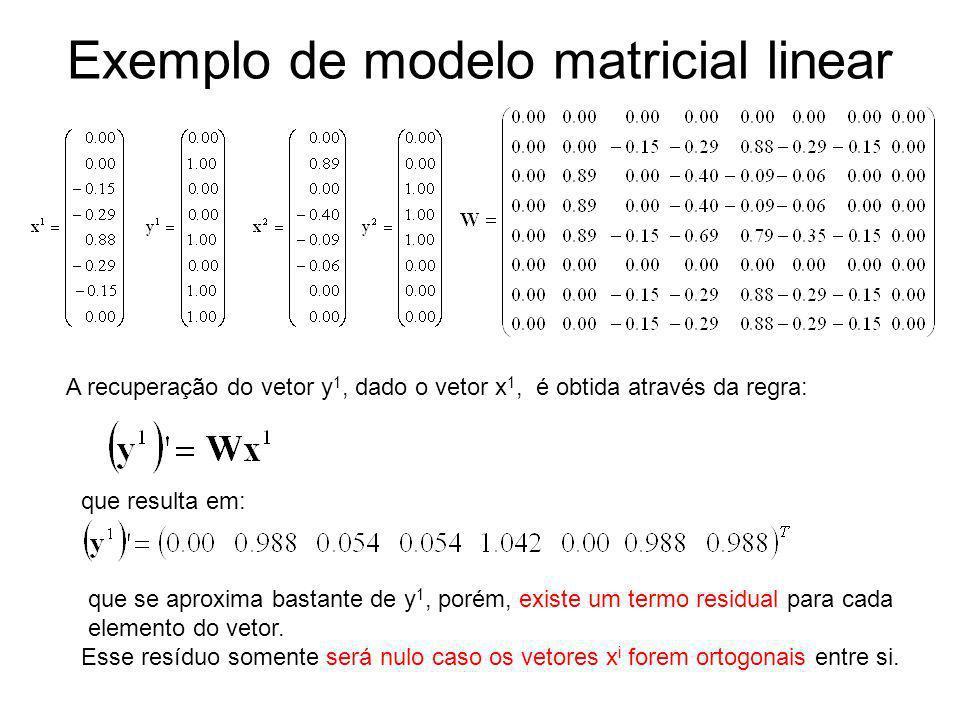 Exemplo de modelo matricial linear