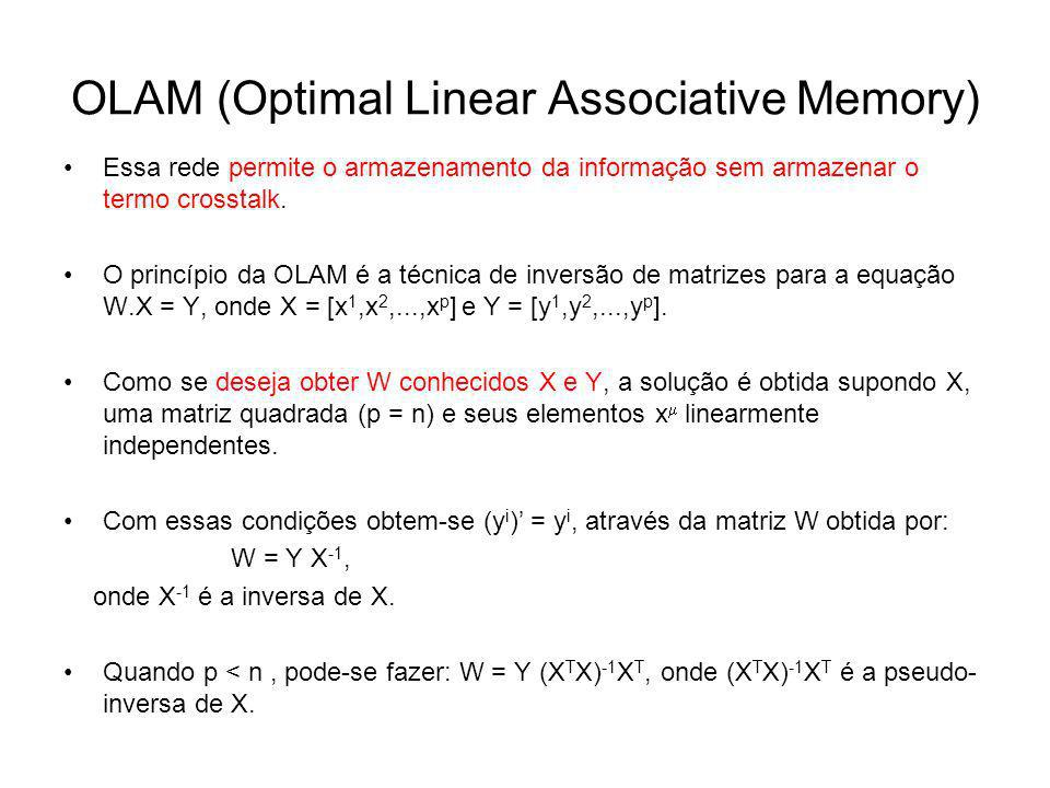 OLAM (Optimal Linear Associative Memory)