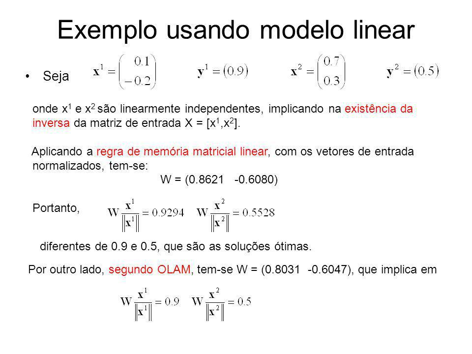 Exemplo usando modelo linear