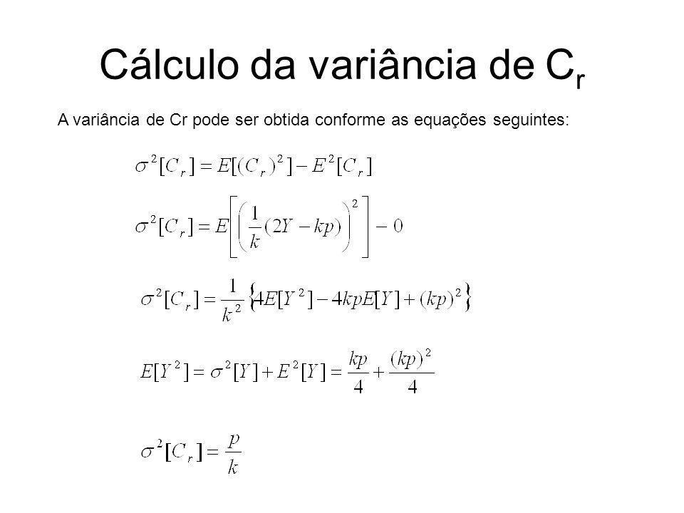 Cálculo da variância de Cr