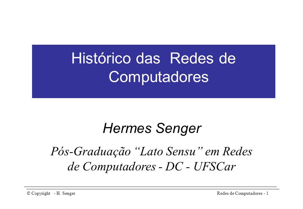 Histórico das Redes de Computadores