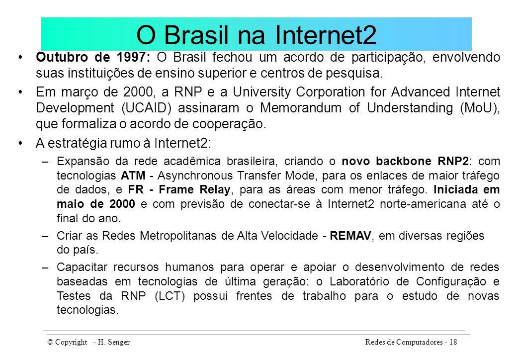 O Brasil na Internet2