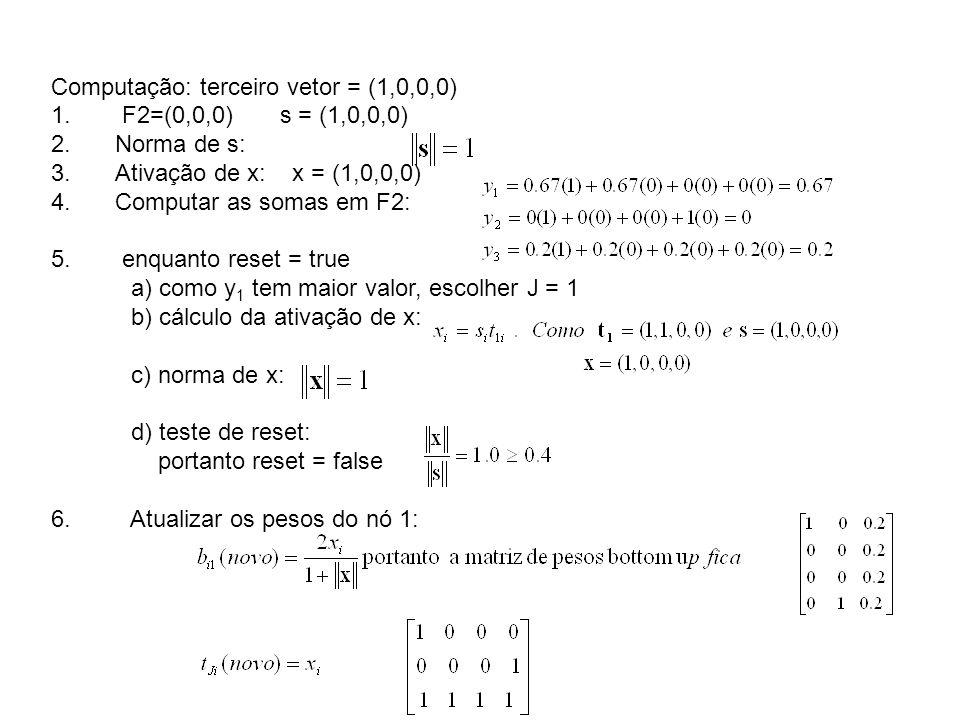 Computação: terceiro vetor = (1,0,0,0)