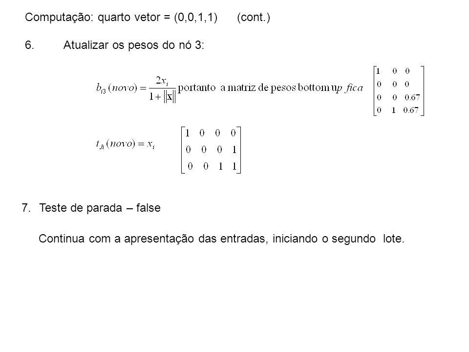 Computação: quarto vetor = (0,0,1,1) (cont.)