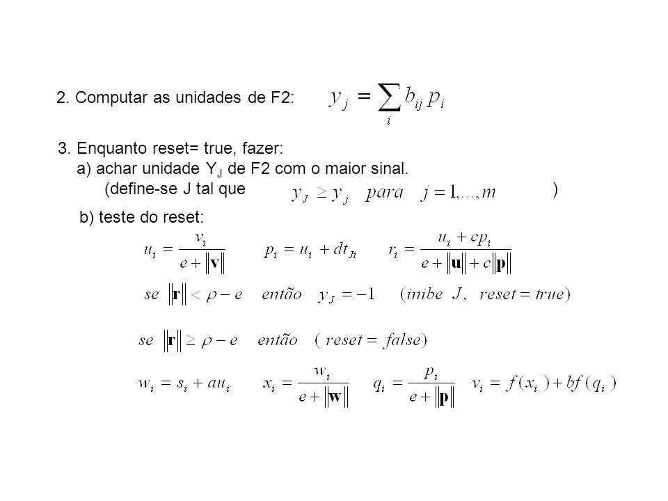 2. Computar as unidades de F2: