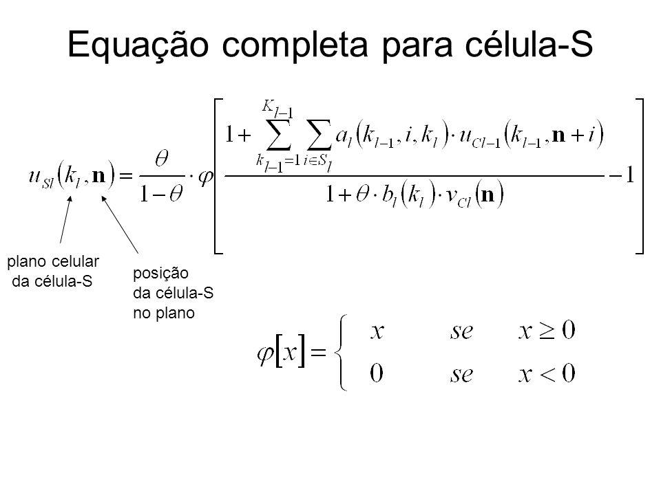Equação completa para célula-S