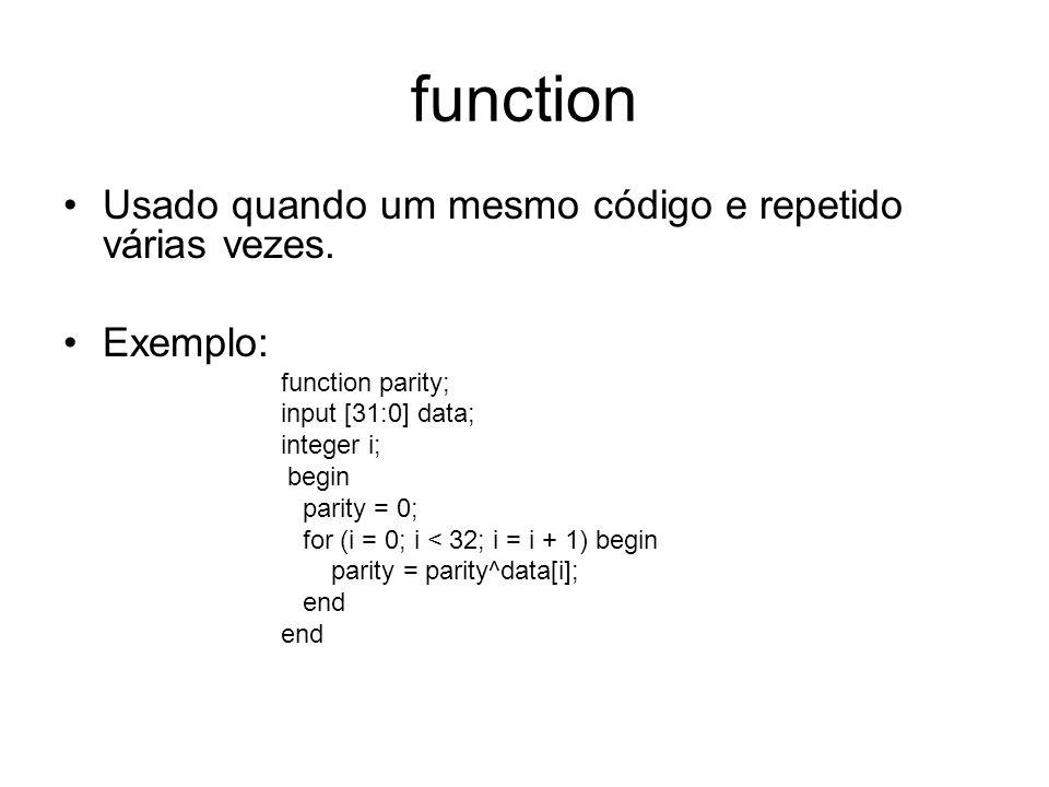 function Usado quando um mesmo código e repetido várias vezes.