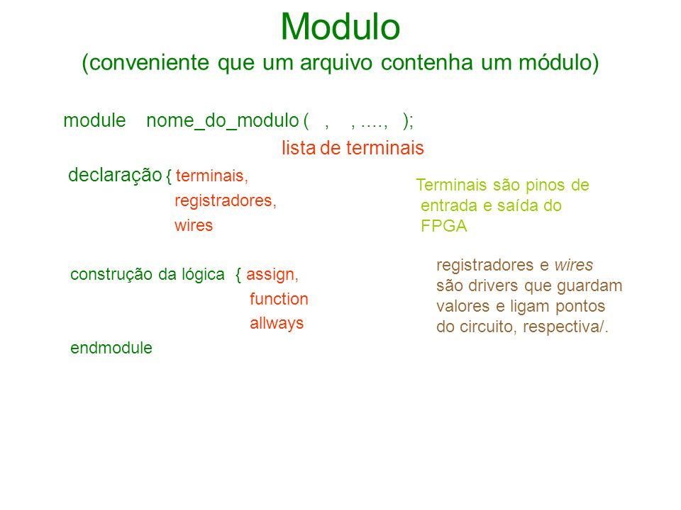 Modulo (conveniente que um arquivo contenha um módulo)
