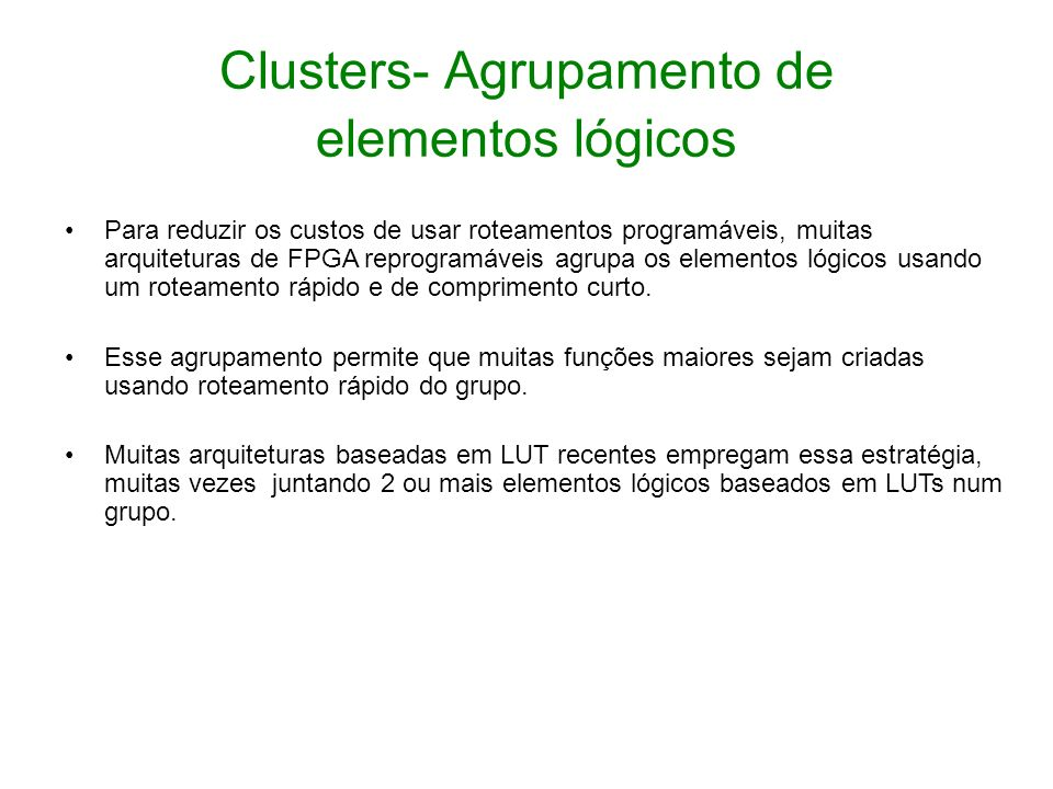 Clusters- Agrupamento de elementos lógicos