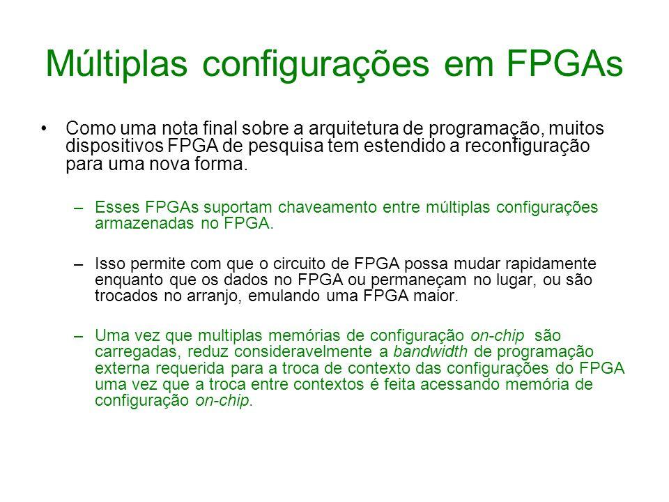 Múltiplas configurações em FPGAs