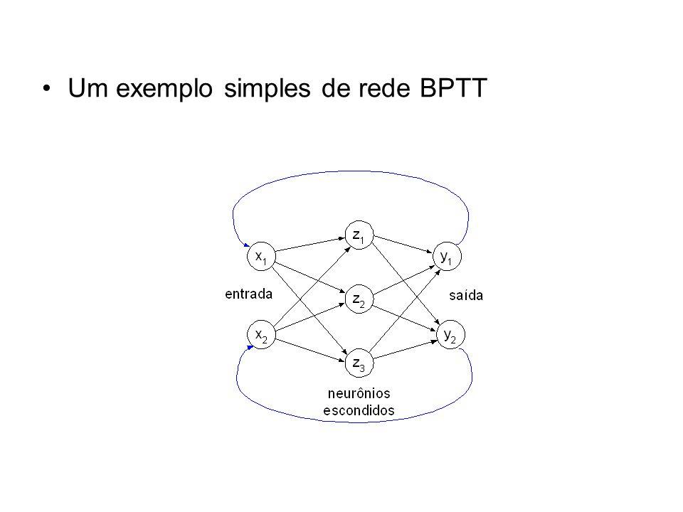 Um exemplo simples de rede BPTT