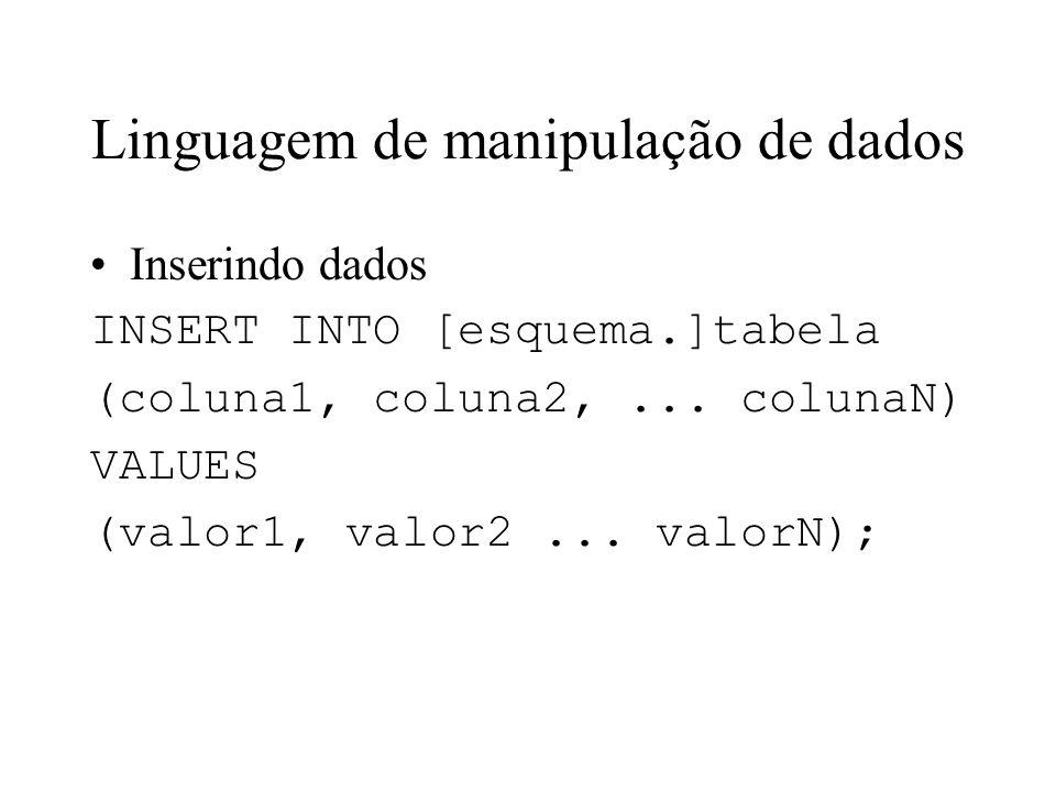 Linguagem de manipulação de dados