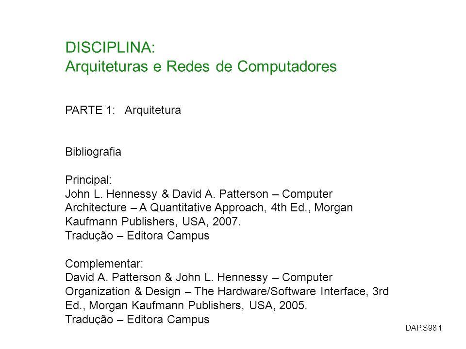 Arquiteturas e Redes de Computadores