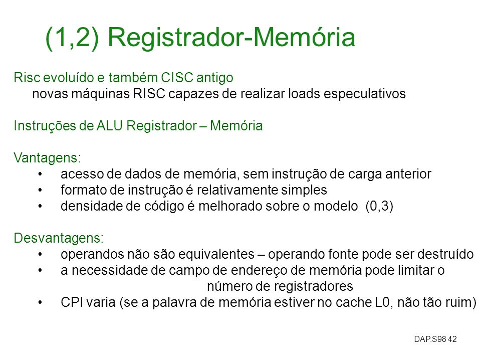 (1,2) Registrador-Memória