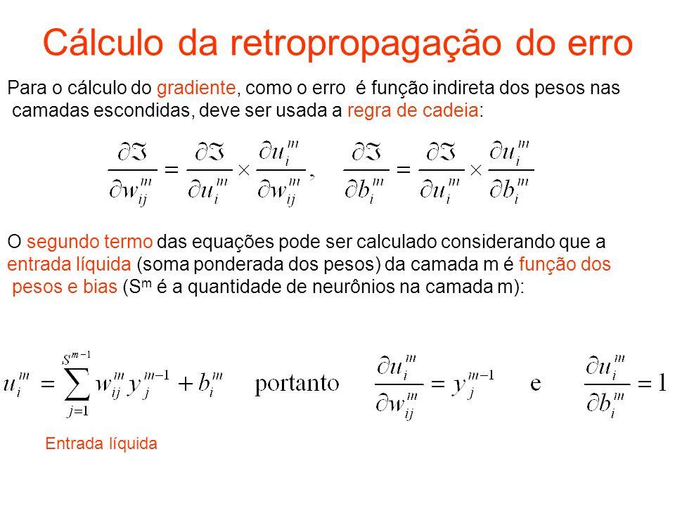 Cálculo da retropropagação do erro