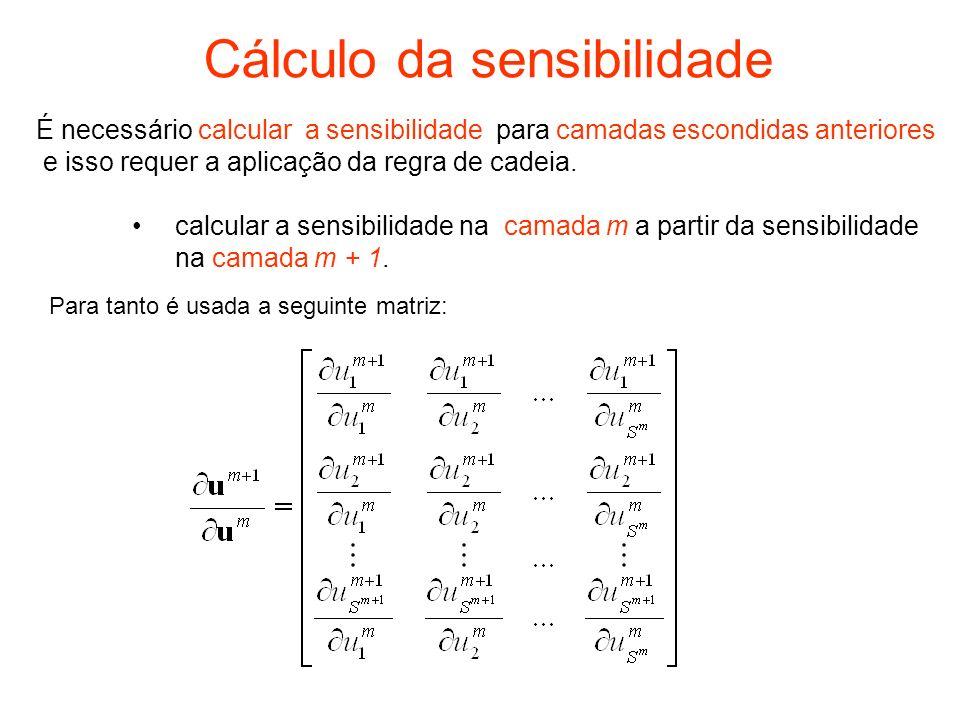 Cálculo da sensibilidade
