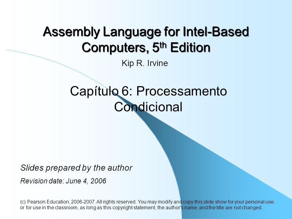 Assembly Language for Intel-Based Computers, 5th Edition