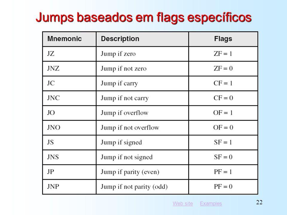 Jumps baseados em flags específicos