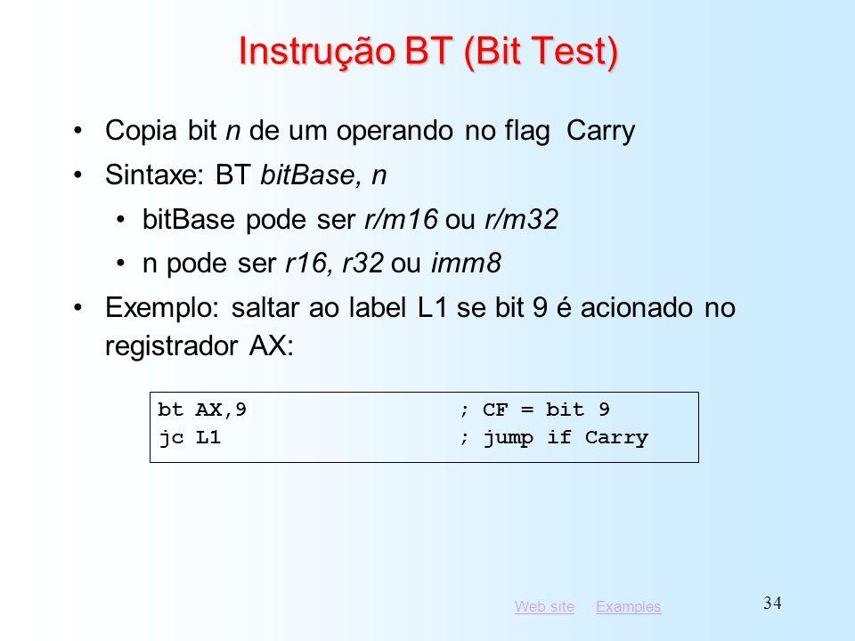 Instrução BT (Bit Test)