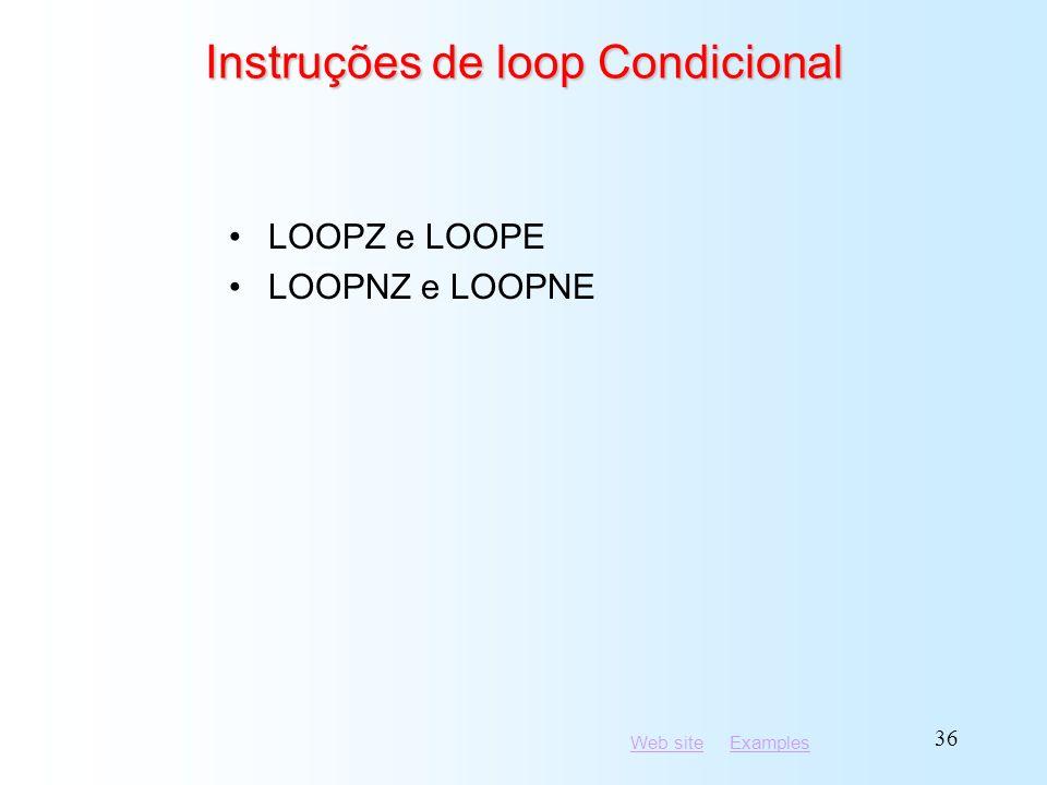 Instruções de loop Condicional