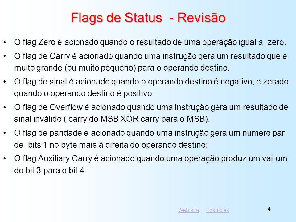 Flags de Status - Revisão