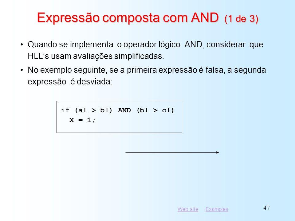 Expressão composta com AND (1 de 3)