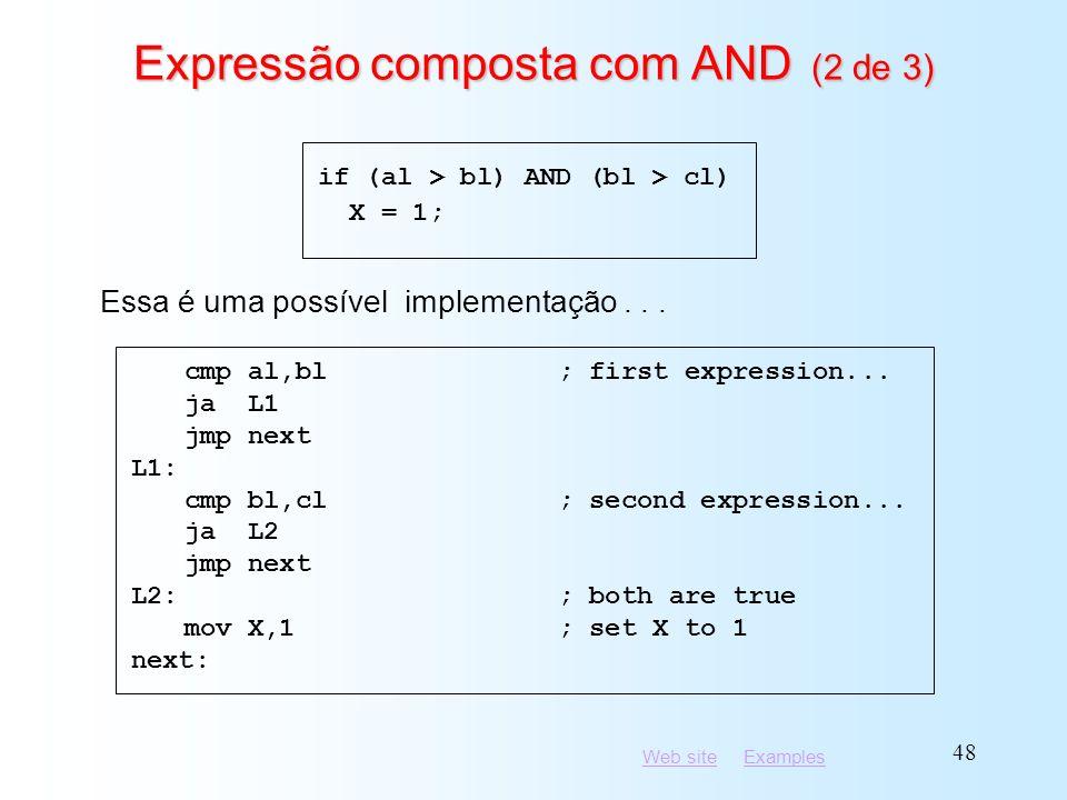 Expressão composta com AND (2 de 3)