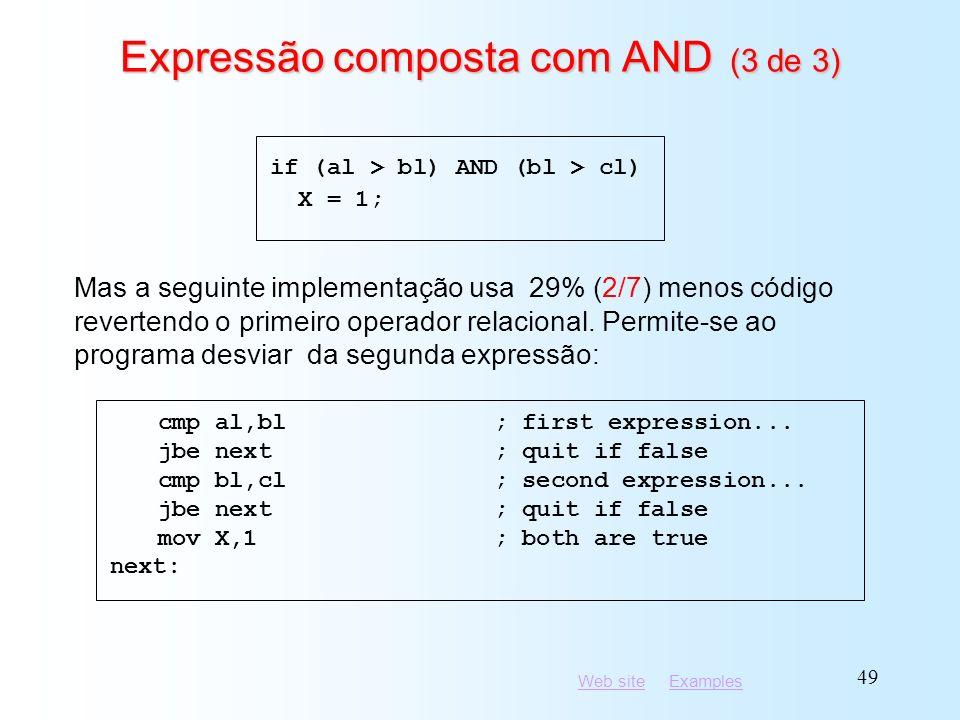 Expressão composta com AND (3 de 3)