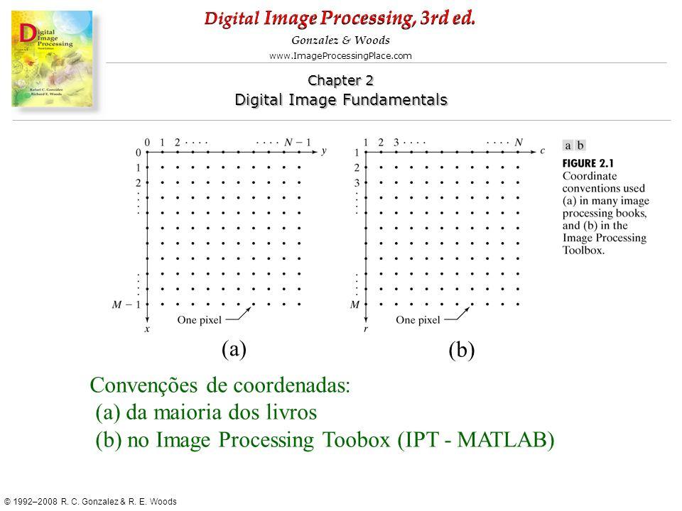 (a) (b) Convenções de coordenadas: (a) da maioria dos livros.