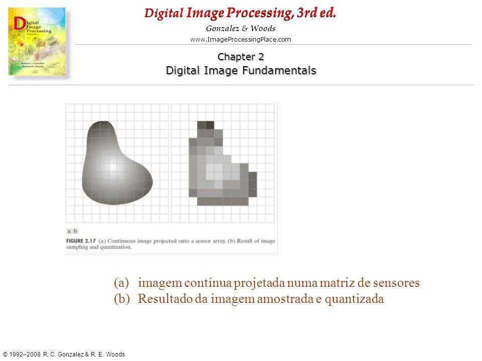 imagem contínua projetada numa matriz de sensores