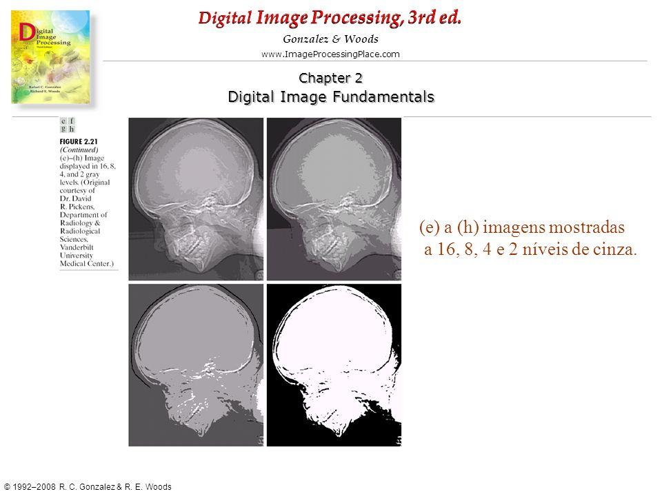 (e) a (h) imagens mostradas