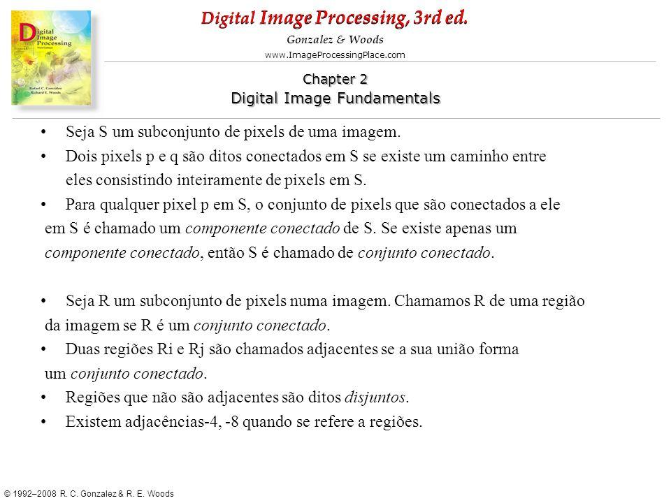 Seja S um subconjunto de pixels de uma imagem.
