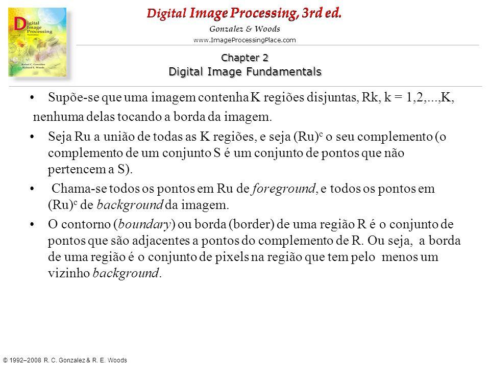 Supõe-se que uma imagem contenha K regiões disjuntas, Rk, k = 1,2,...,K,