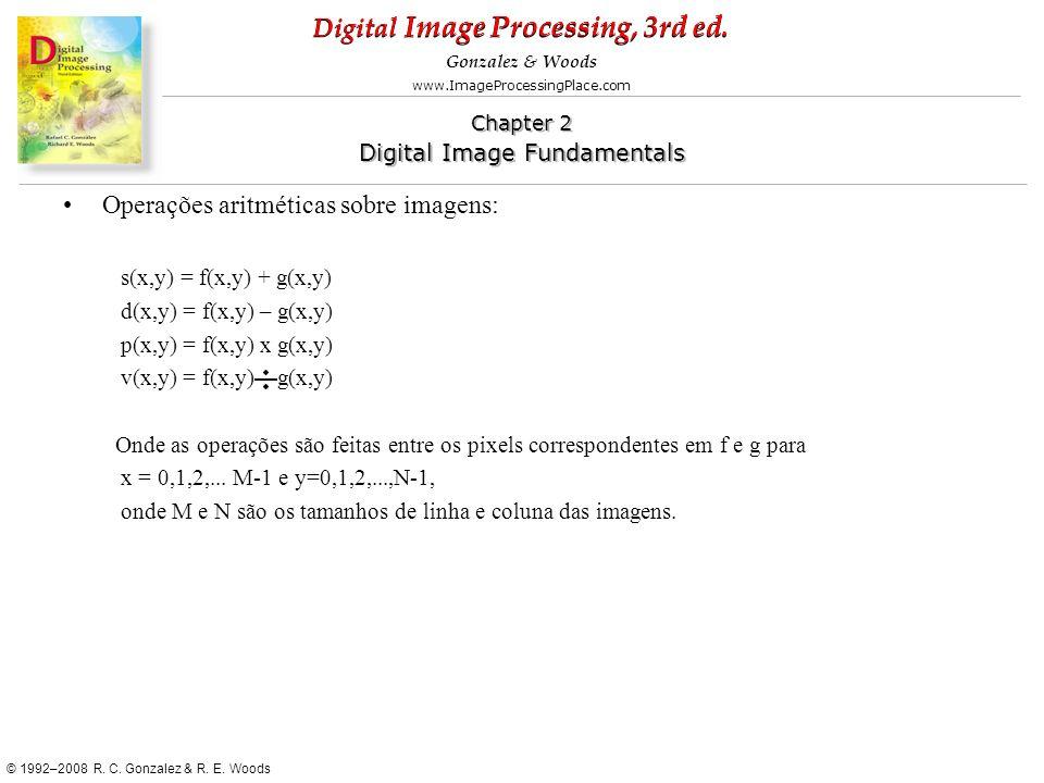 Operações aritméticas sobre imagens: