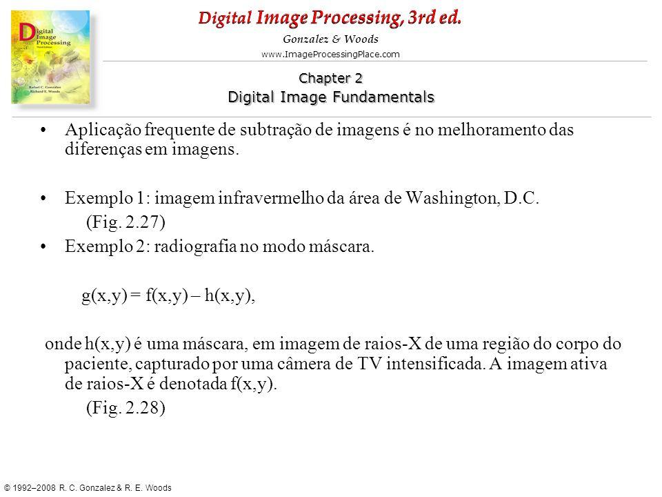 Aplicação frequente de subtração de imagens é no melhoramento das diferenças em imagens.