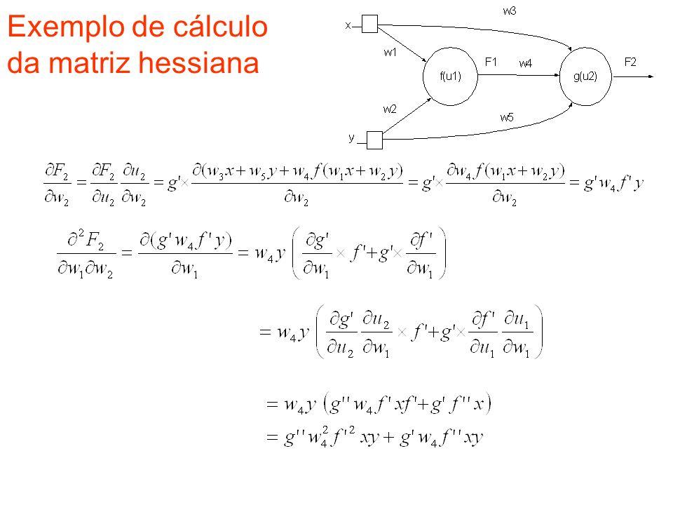 Exemplo de cálculo da matriz hessiana