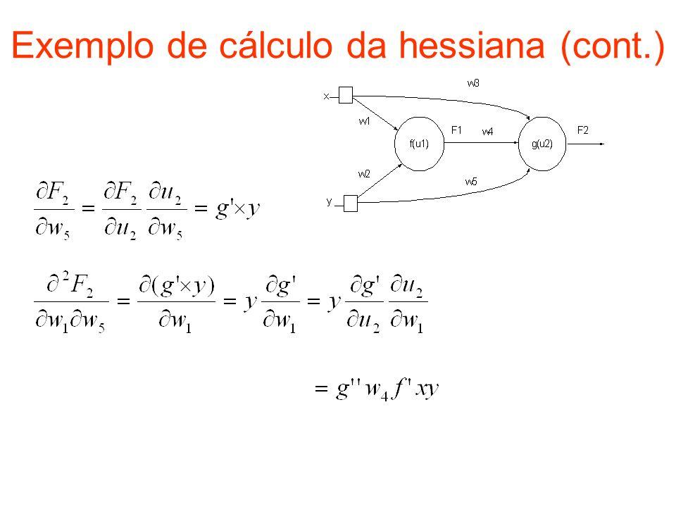Exemplo de cálculo da hessiana (cont.)