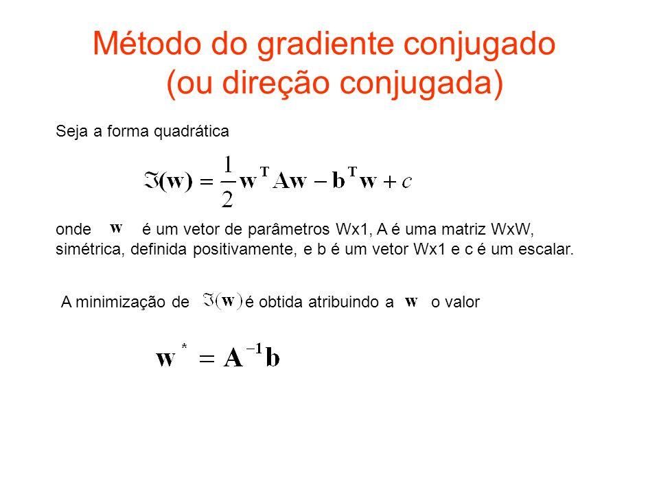 Método do gradiente conjugado (ou direção conjugada)