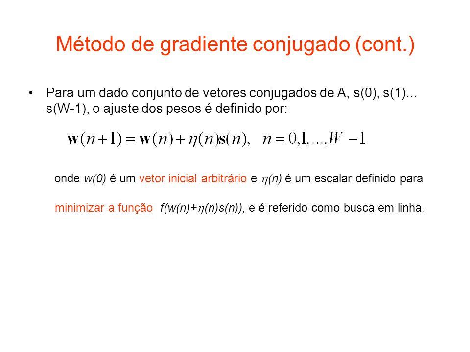 Método de gradiente conjugado (cont.)