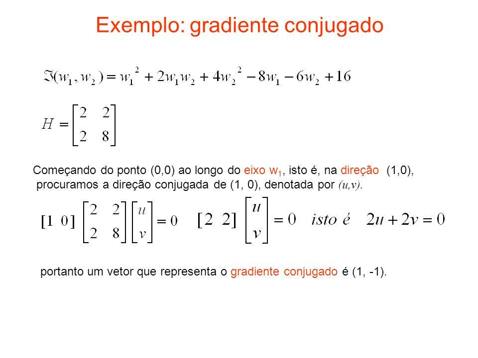 Exemplo: gradiente conjugado