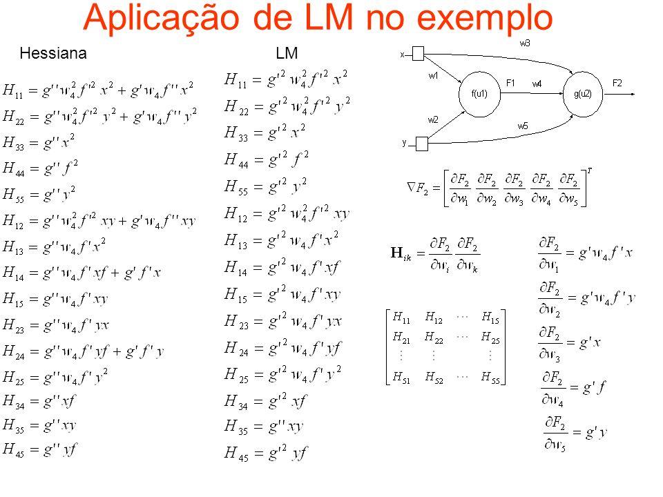 Aplicação de LM no exemplo