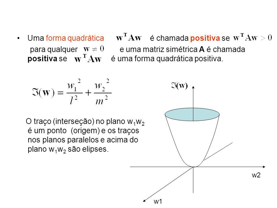 Uma forma quadrática é chamada positiva se