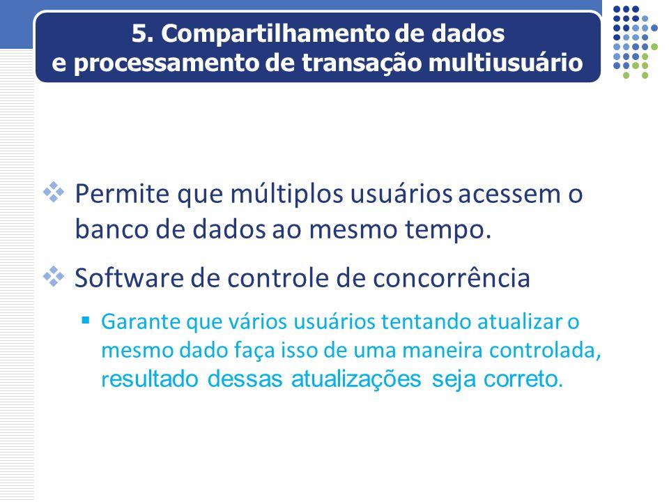 5. Compartilhamento de dados e processamento de transação multiusuário