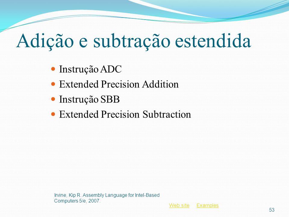 Adição e subtração estendida