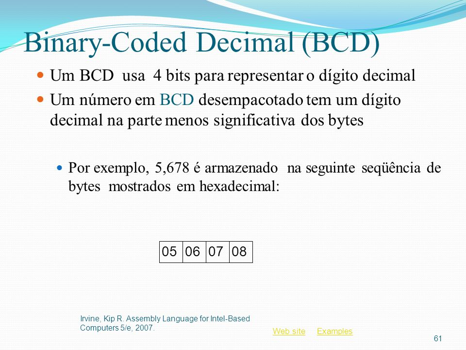 Binary-Coded Decimal (BCD)