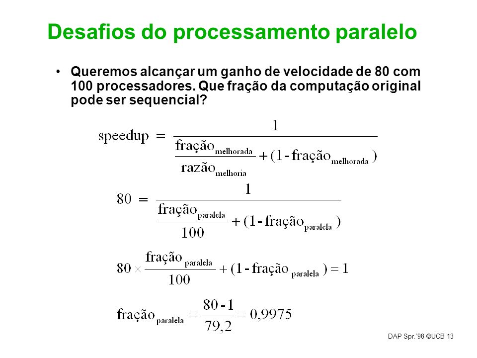 Desafios do processamento paralelo