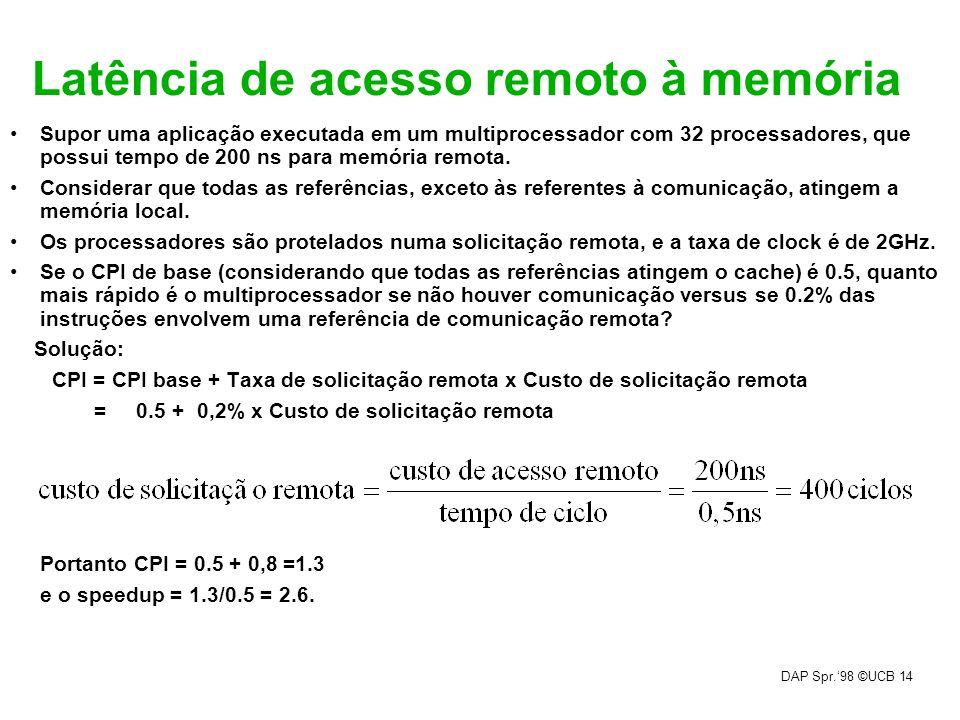 Latência de acesso remoto à memória