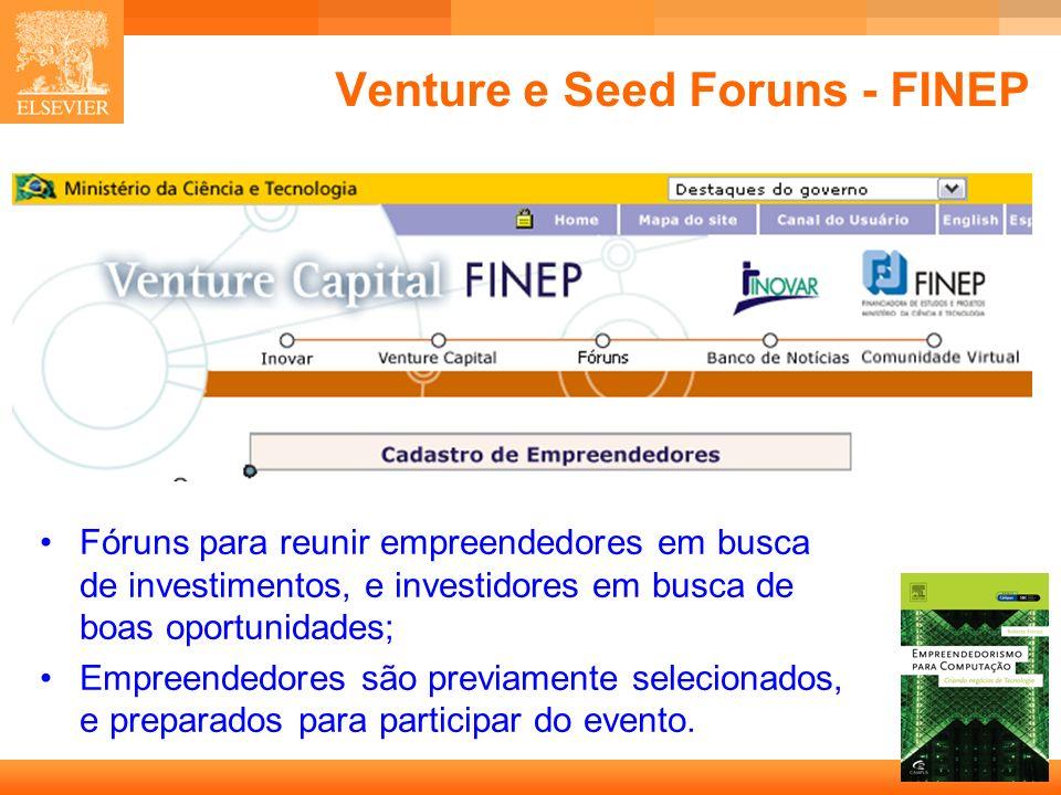 Venture e Seed Foruns - FINEP