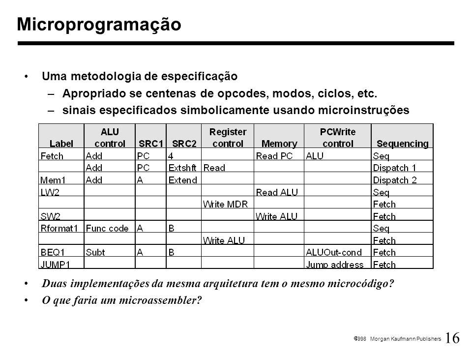 Microprogramação Uma metodologia de especificação