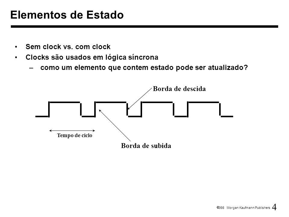 Elementos de Estado Sem clock vs. com clock